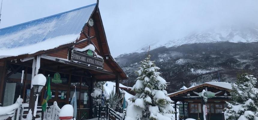 Llegó la primera gran nevada 2021 a Ushuaia